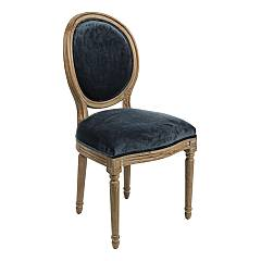 Bizzotto 0748063 Chair in wood and fabric - blue Adrien