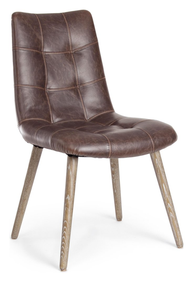 Photos 1: Bizzotto 0748070 Johnston Chair covered in eco-leather