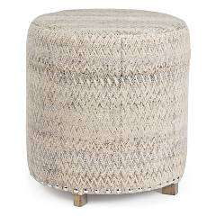 Bizzotto 0748078 Round pouf covered in fabric Elodie
