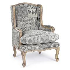 Bizzotto 0748080 - Vivienne Armchair covered in fabric