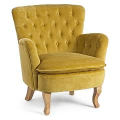 Bizzotto 0748126 - Orlis Armchair covered in fabric - mustard