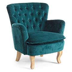 Bizzotto 0748128 - Orlis Armchair covered in fabric - dark green