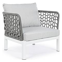 Bizzotto 0660163 - Scarlett Armchair with effect weave