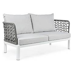 Bizzotto 0660164 Sofa in metal and fabric Scarlett