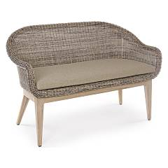 Bizzotto 0660246 Wooden and polyrattan sofa with cushions Belen