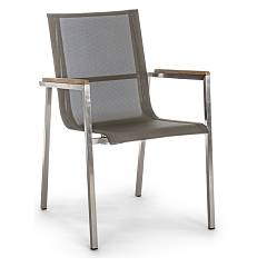 Bizzotto 0660400 - Evans Chair metal stacking