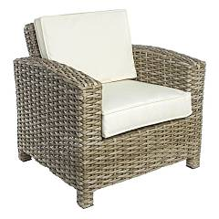 Bizzotto 0661275 Polyrattan armchair with cushions Lesly