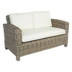 Bizzotto 0661276 Sofa in polyrattan with cushions Lesly