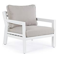 Bizzotto 0662200 - Quentin Armchair in metal and pillows