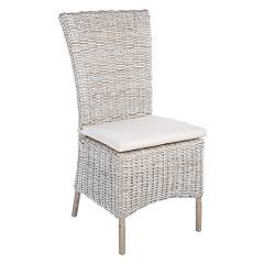 Bizzotto 0671659 Chair in iron and kubu - natural Isla