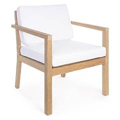 Bizzotto 0804362 Wooden armchair with cushions Arizona