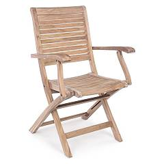 Bizzotto 0804381 Folding wooden armchair Maryland