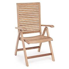 Bizzotto 0804382 Reclinable and folding wooden armchair Maryland