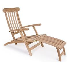Bizzotto 0804383 Reclinable wooden armchair with gamnìbe poggia Maryland