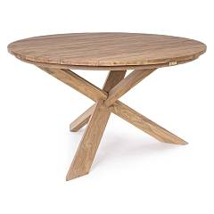Bizzotto 0804570 Round wood table d. 135 Rift