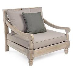 Bizzotto 0805140 - Bali Wood armchair with pillows