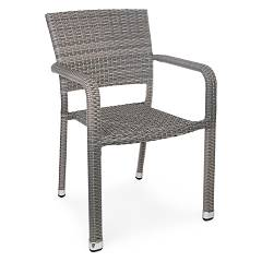 Bizzotto 0661752 Polyphather armchair - gray James