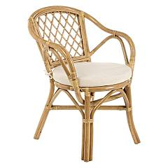 Bizzotto 0671116 Rattan armchair with pillow Athina