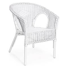 Bizzotto Yes 0671123 Rattan-sessel - weiss Alliss