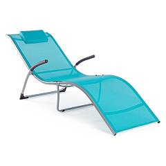 Bizzotto 0803071 Chaise longue with armrests - blue Scott