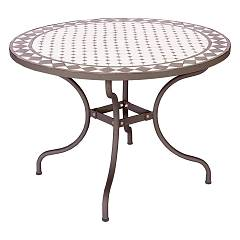 Bizzotto 0804642 Metal table with mosaic d. 110 Duke