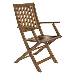 Bizzotto 0805127 - MALI Chair-wood-adjustable backrest