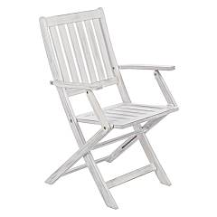 Bizzotto 0805155 - PATTY Folding chair-wood - white
