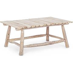 Bizzotto 0680532 Table fixe l. 90 x 60 en bois de teck naturel Sahel