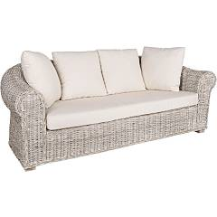 Bizzotto Coba 3 seater rattan sofa with removable cushions