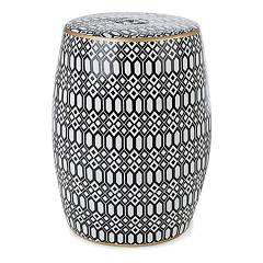 Bizzotto Sfinge Fixed stool in ceramic with electrolytic paint Arabic