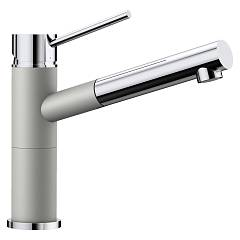 Blanco Alta-s Compact Kitchen mixer with hand shower - silgranit - pearl gray / chrome Modern