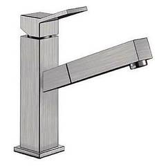 Blanco Quadris-s Kitchen mixer with shower - matted satin matt steel Individual
