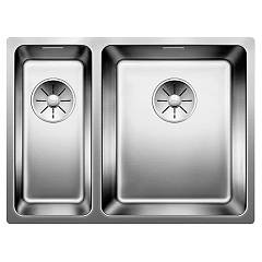 Blanco Andano 340/180-if Semi-flush / flush-mount sink cm. 59 x 44 stainless steel Andano