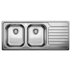 Blanco Dinas 8 S Built-in sink cm. 116 x 50 stainless steel - right drip Dinas