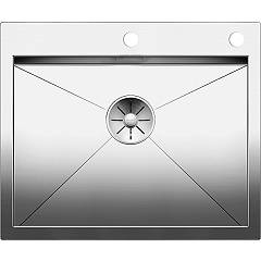 Blanco Zerox 550-if/a Semi-flush / flush-mount sink cm. 61 x 51 stainless steel - 10 mm outer radius Zerox
