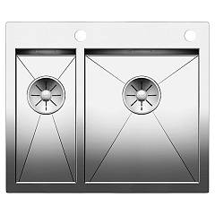 Blanco Zerox 340/180-if/a Semi-flush / flush-mount sink cm. 61 x 51 stainless steel - 10 mm outer radius Zerox
