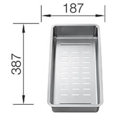 Blanco 1231396 18.7 x 38.7 stainless steel perforated tray Etagon