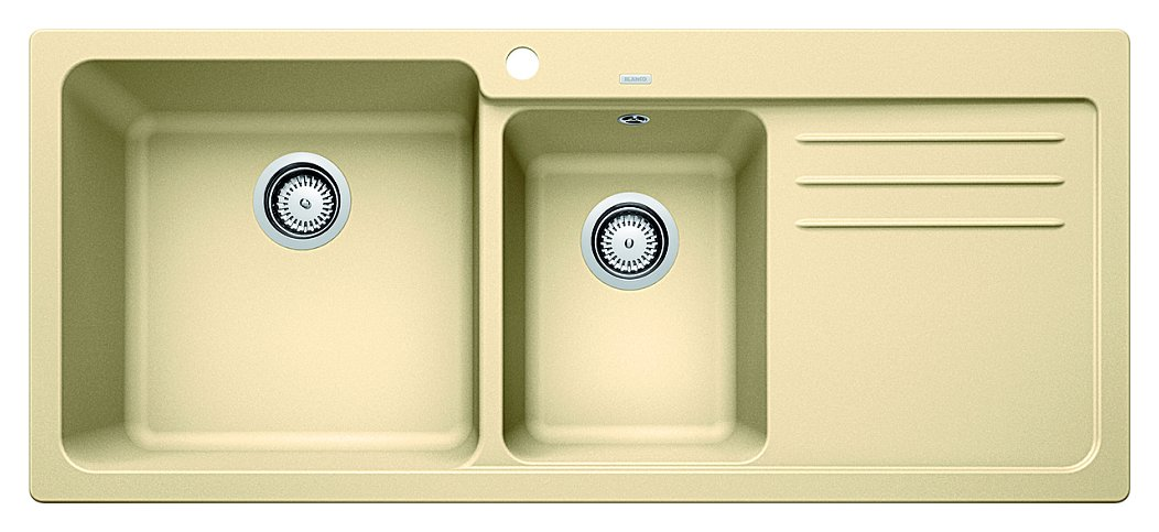 Photos 1: Blanco 1519659 Blanco Naya 8 S Built-in sink 116 x 50 champagne - right drip
