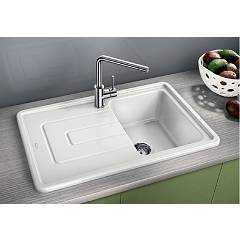 Photos 2: Blanco 1520422 Tolon 45 S Built-in sink 78 x 50 white crystal - left drip