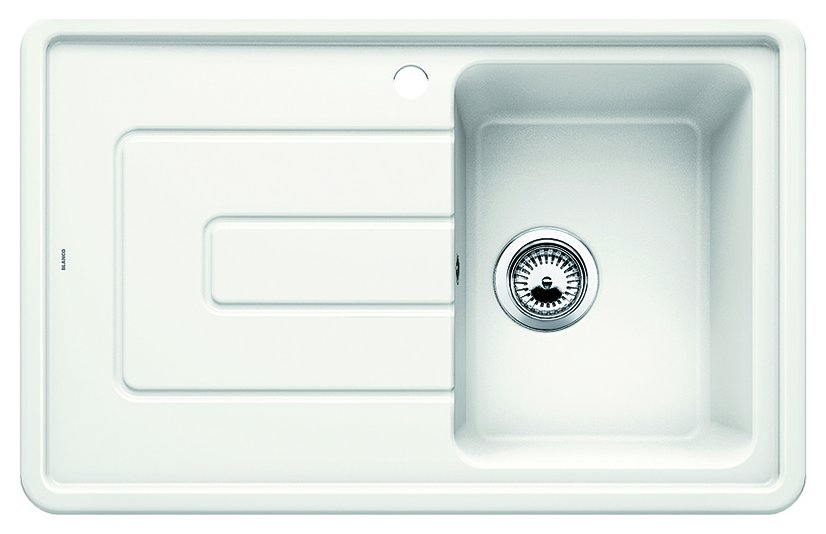 Photos 1: Blanco 1520422 Tolon 45 S Built-in sink 78 x 50 white crystal - left drip