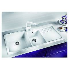 Photos 2: Blanco 1520595 Blanco Naya 8 S Recessed sink 116 x 50 pearl gray - right drip