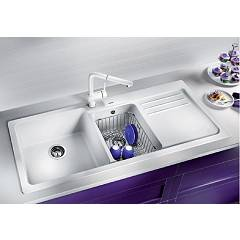 Photos 3: Blanco 1520595 Blanco Naya 8 S Recessed sink 116 x 50 pearl gray - right drip
