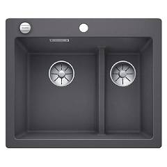 Blanco 1521690 Recessed sink 62 x 51 gray rock Pleon 6 Split