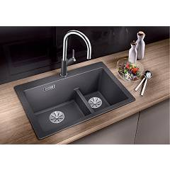 Photos 2: Blanco 1521698 Pleon 6 Split Built-in sink 62 x 51 coffee