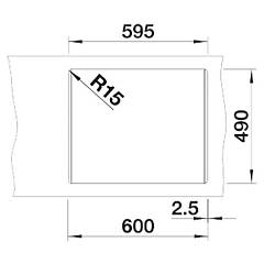 Photos 4: Blanco 1521698 Pleon 6 Split Built-in sink 62 x 51 coffee