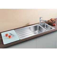 Photos 3: Blanco 1522104 Axis Iii 6 S-if Filotop sink 100 x 51 stainless steel - left drip