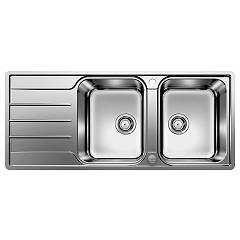 Blanco 1523037 Filotop sink 116 x 50 stainless steel - reversible dripstone Lemis 8 S-if