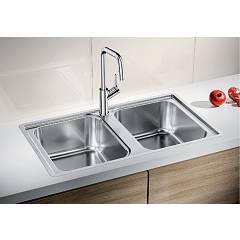 Photos 2: Blanco 1523039 Lemis 8-if Filotop sink 86 x 50 stainless steel