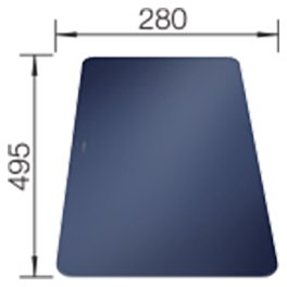 Photos 1: Blanco 1232846 Andano Blue frosted glass cutting board