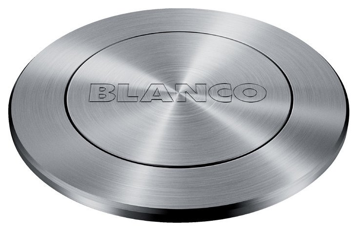 Photos 1: Blanco 1233696 Advanced Pushcontrol pop-up waste control - stainless steel